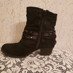 Shoes - Black Ankle Boots Size 8.5